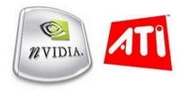 Loga společností ATI a nVidia