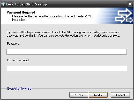 Lock folder install pass