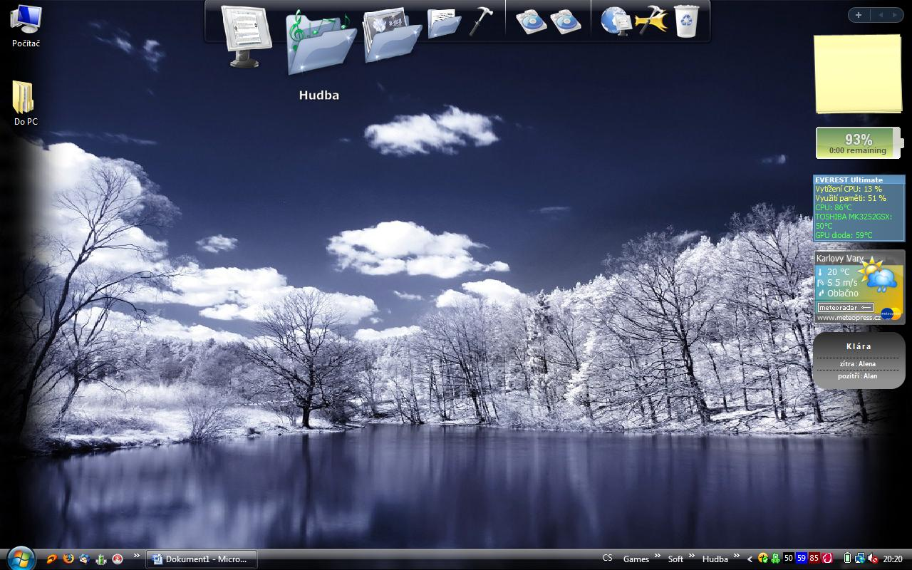 RocketDock on Desktop