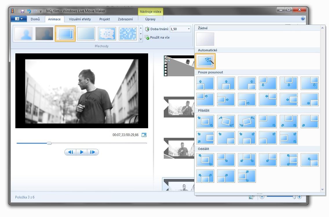 WLMM prolínání - použití