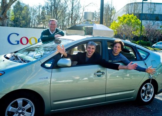 Google: Erick Schmidt, Sergej Brin, Larry Page