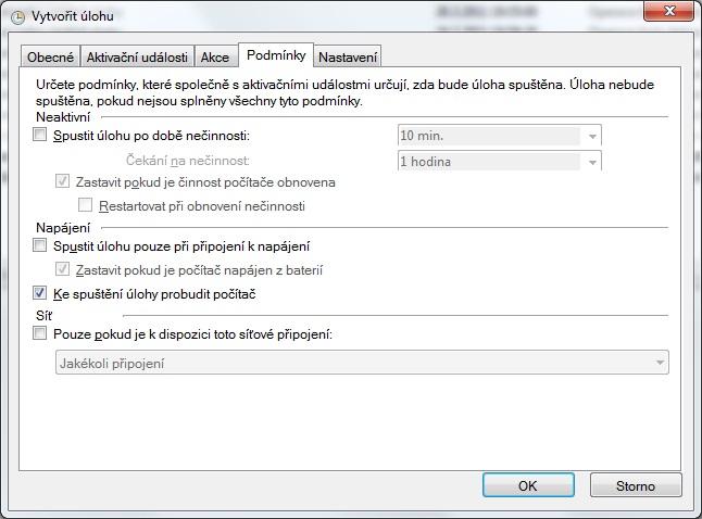 Plánovač úloh ve Windows 7 - nastavení