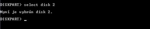 CMD screenshot - příkazový řádek