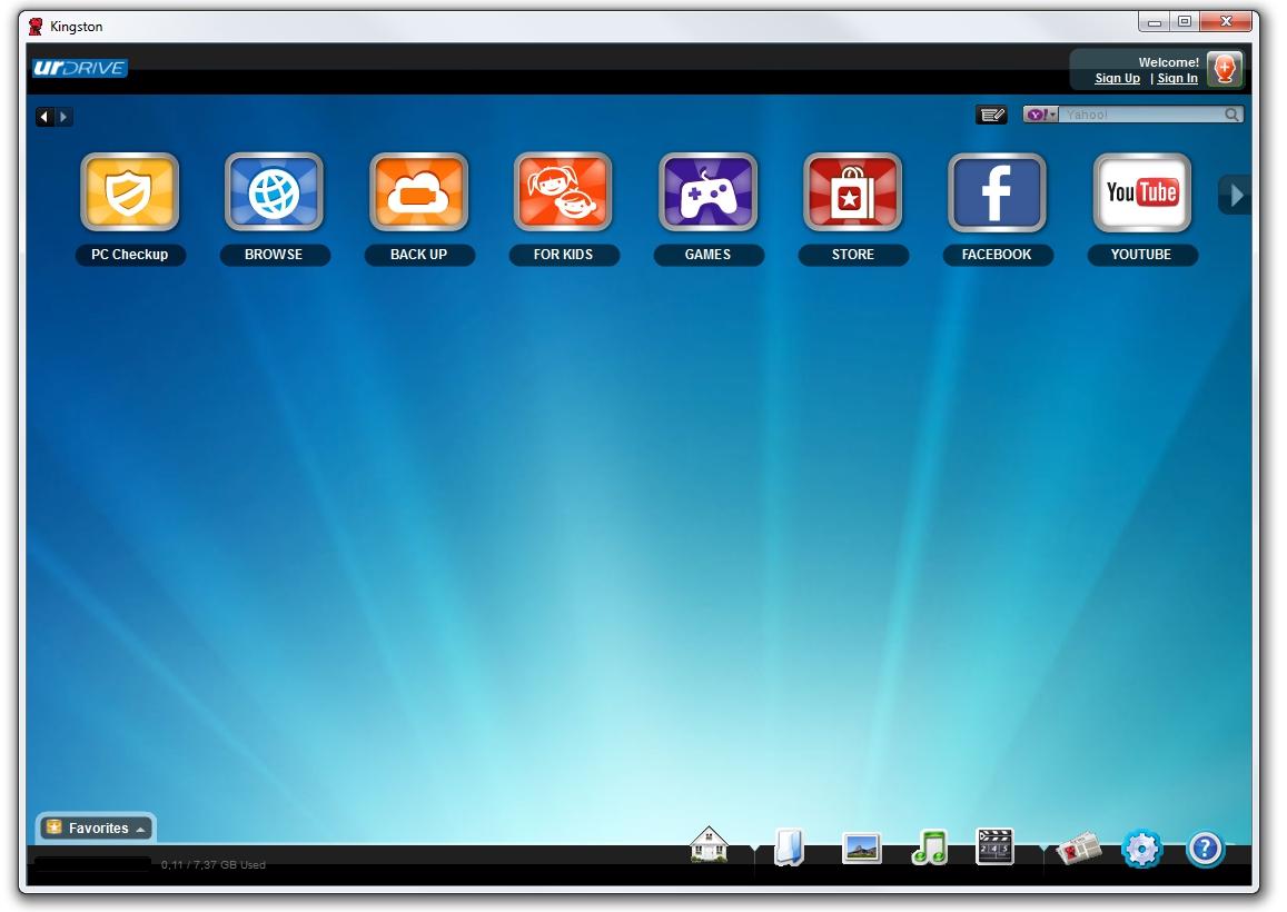 UrDrive by Kingston interface