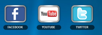 facebook, twitter, YouTube icon