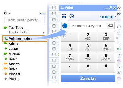 Google nyní umožňuje telefonování přímo z Gmailu! #Webaplikace