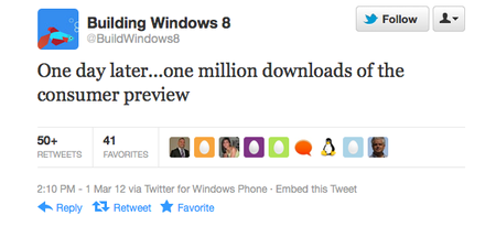 Windows 8 build team on Twitter
