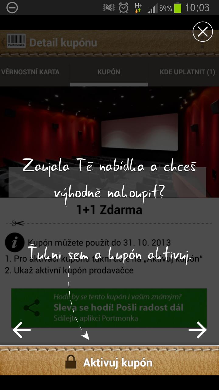 Portmonka aplikace
