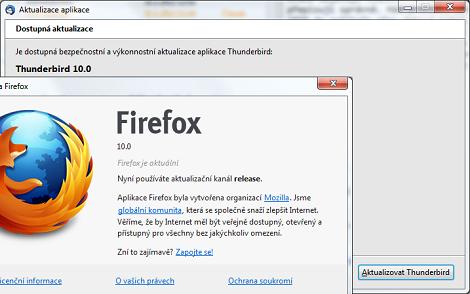 Thunderbird & Firefox 10 release