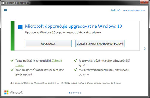 Windows 10 upgrade alert